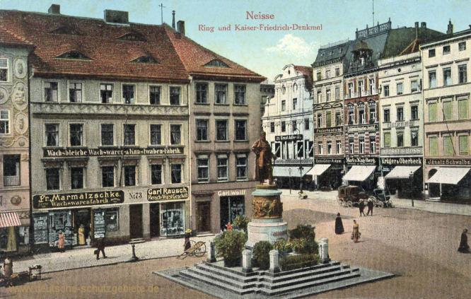 Neisse, Ring und Kaiser-Friedrich-Denkmal