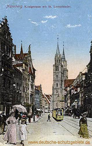Nürnberg, Königstraße mit St. Lorenzkirche