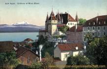 Nyon, Château et Mont Blanc