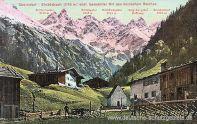 Oberstdorf, Einödsbach (1115 m) südlichster bewohnter Ort des Deutschen Reichs