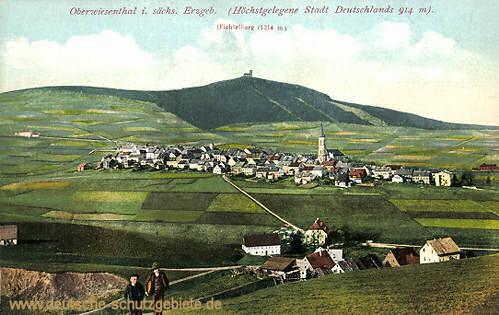 Oberwiesenthal im sächsischen Erzgebierge