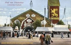Gruß vom Oktoberfest! Löwenbräu-Festhalle