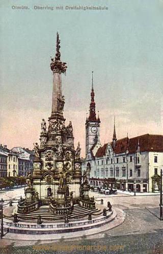Olmütz, Oberring mit Dreifaltigkeitssäule