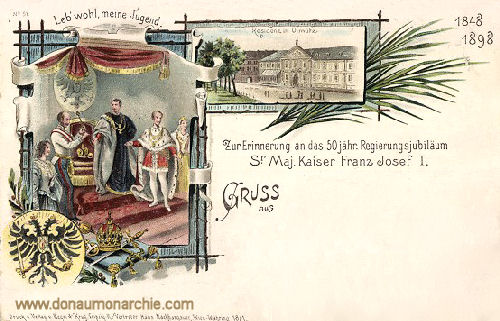 Olmütz, Residenz - 50. Regierungsjubiläum Sr. Maj. Kaiser Franz Josef I.
