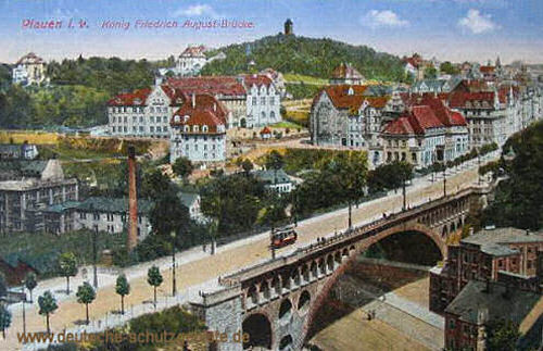 Plauen, König Friedrich August-Brücke