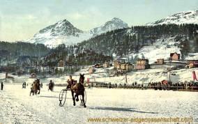 Pontresina, Wintersport, Trabfahren