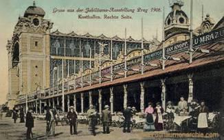Prag, Jubiläums-Ausstellung 1906, Kosthallen. Rechte Seite