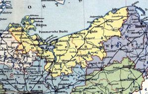 Provinz Pommern, Landkarte 1914