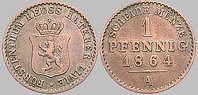Fürstentum Reuß ä. L., 1 Pfennig, 1864