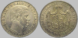 Heinrich XXII. ä. L. Fürst Reuß, 1 Taler, 1868