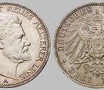 Heinrich XXIV. Fürst Reuß ä. L., 3 Mark, 1909