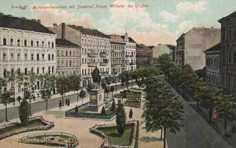 Rixdorf, Hohenzollernplatz mit Kaiser Wilhelm Denkmal