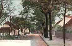 Rixdorf, Richardplatz mit Schmiede und Kirche