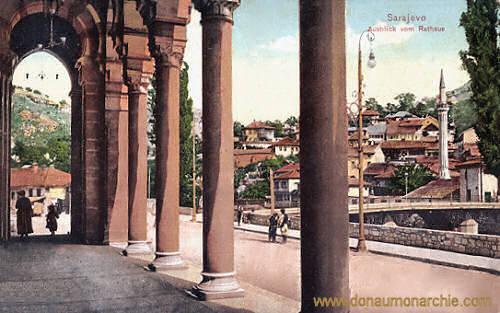 Sarajevo, Ausblick vom Rathaus