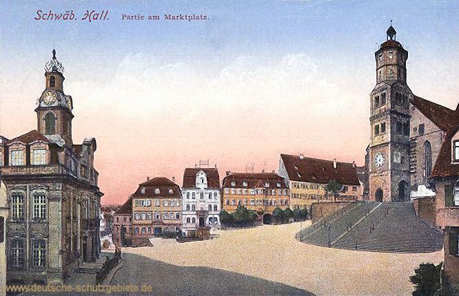 Schwäbisch Hall, Partie am Marktplatz