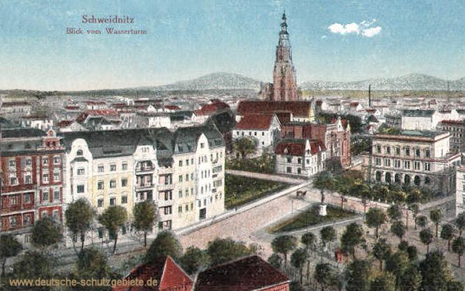 Schweidnitz, Blick vom Wasserturm