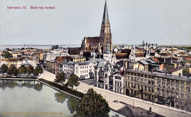 Schwerin i. M., Blick vom Arsenal