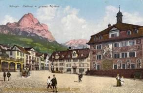 Schwyz, Rathaus und großer Mythen
