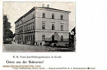Sereth (Bukowina), K. k. Franz Josef-Untergymnasium