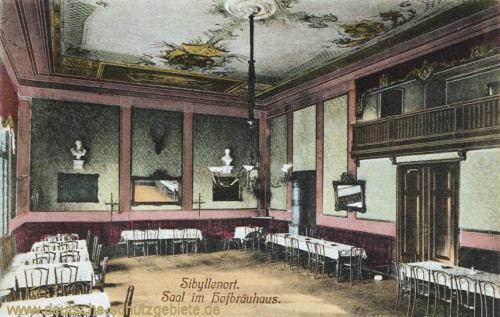 Sibyllenort, Saal im Hofbräuhaus