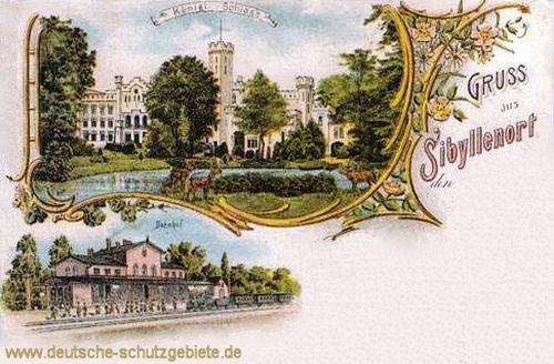 Sibyllenort, Königliches Schloss, Bahnhof