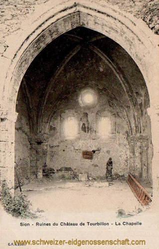 Sion - Ruines du Château de Tourbillon - La Chapelle
