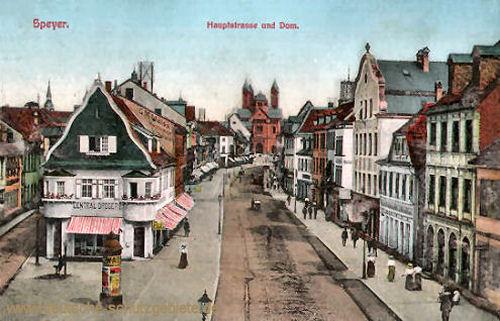 Speyer, Hauptstraße und Dom