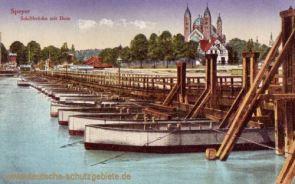 Speyer, Schiffbrücke mit Dom