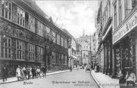 Stade, Hökerstraße mit Rathaus