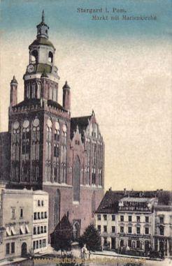 Stargard i. P., Markt mit Marienkirche