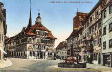 Stein a. Rhein, Rathausplatz und Rathaus