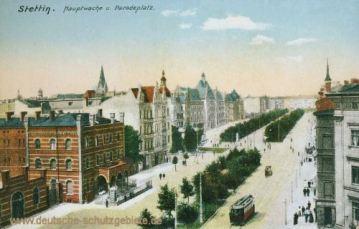 Stettin, Hauptwache mit Paradeplatz