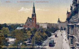Stettin, Hohenzollernplatz mit Bughagenkirche