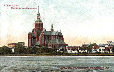 Stralsund, Marienkirche vom Frankenteich
