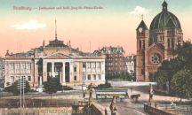 Straßburg i. E., Justizpalast und kath. Jung-St. Peters-Kirche