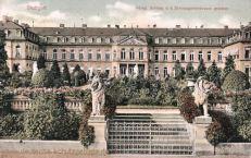 Stuttgart, Königl. Schloss von der Schlossgartenstraße gesehen