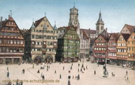 Stuttgart, Marktplatz mit Stiftskirche