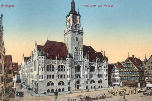 Stuttgart, Marktplatz mit Rathaus