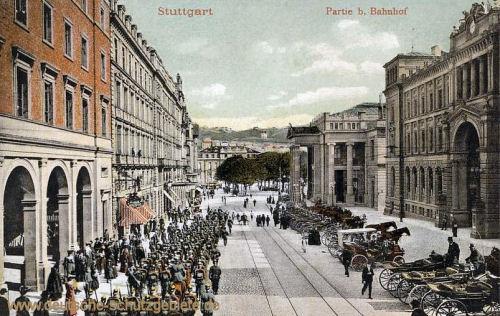Stuttgart, Partie beim Bahnhof