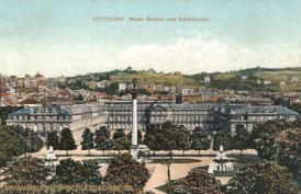 Stuttgart, neues Schloss und Schlossplatz