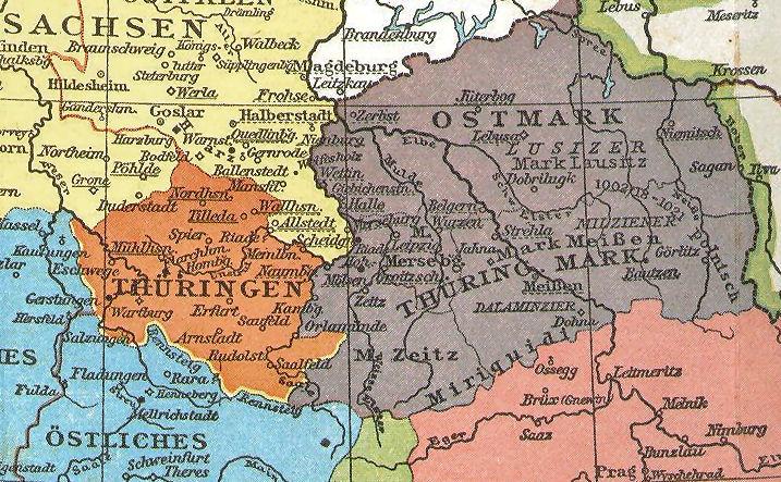 Thüringen und Thüringer Mark