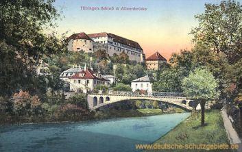 Tübingen, Schloss und Alleebrücke