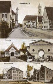 Türkheim in Bayern, Turnhalle, Ludwigstor, Mädchenschule, Krankenhaus