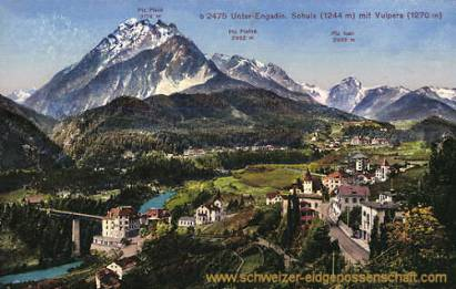 Unter-Engadin, Schuls (1244 m) mit Vulpera (1270 m)