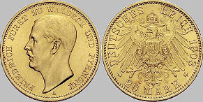 20 Mark, Waldeck 1903