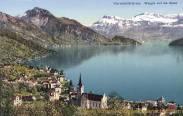 Vierwaldstättersee, Weggis und die Alpen