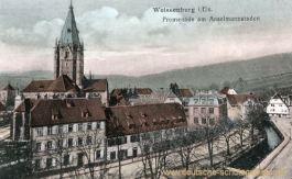 Weißenburg im Elsass, Promenade am Anselmannstaden