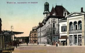Winterthur, Bahnhofplatz mit Hauptpost