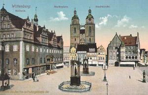 Wittenberg, Rathaus - Marktplatz - Stadtkirche