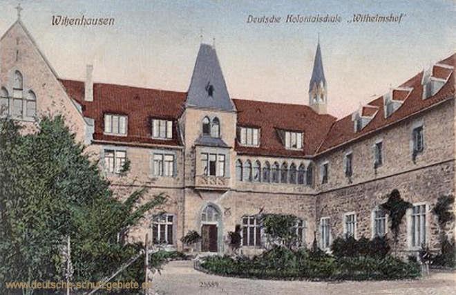 """Witzenhausen, Deutsche Kolonialschule """"Wilhelmshof"""""""